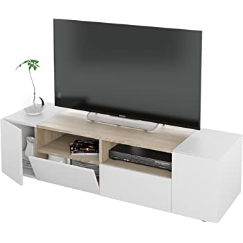 Habitdesign 0G6631BO - Mueble de Comedor TV Moderno, Color Blanco ...