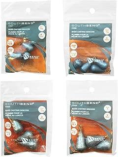 Bundle: Fishing Dipsey Sinkers/Bass Casting Sinkers - 3/8 oz Dipsey Sinkers, 1/2 oz Dipsey Sinkers, 3/4 oz Dipsey Sinkers and 1 oz Dipsey Sinkers
