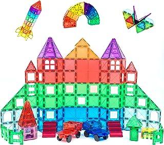 Magnescape Magnetic Tiles 168 Pcs Educational Preschool Toy Building & Construction Toy Spark Creativity STEM NON-TOXIC an...