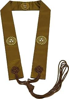 sowaka (ソワカ) 輪袈裟 わげさ 天台宗用 茶色 両山紋入 半袈裟