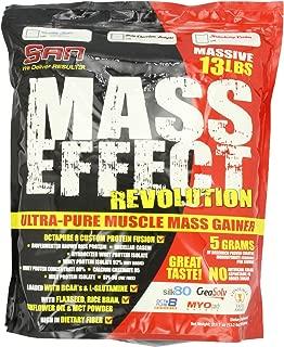 SAN Nutrition Mass Effect Revolution Mass Gainer Powder, Vanilla Bean, 13 Pounds