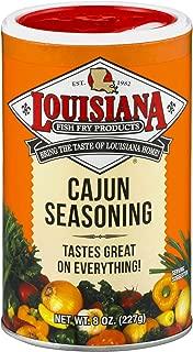 Louisiana Fish Fry, Cajun Seasoning, 8 oz (Pack of 12)