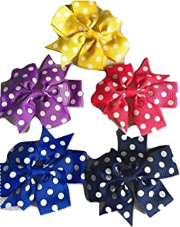 Xldreams Imported 5 Polka Dotted Kids Snap/tiktok clips for kids festival/wedding/Party Assorted colors
