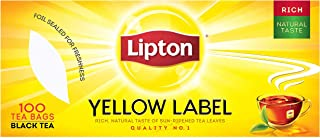 Lipton Yellow Label Black Tea, 100 Teabags