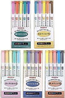 Zebra Mildliner highlighter pen set, 25 Pastel Color set