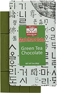 Matchacolate Green Tea Matcha Chocolate Bar, 3oz