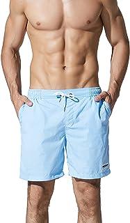 (リッキー&ベンズ) Ricky&Bens サーフパンツ メンズ ソリッドカラー 海水パンツ ハーフパンツ 水陸両用 男性水着 スイムショーツル