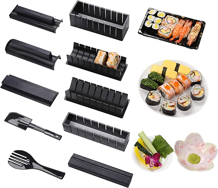 Preparare sushi - stampo facile da usare set di sushi sushi kit (nero) virklyee JY1403535001D