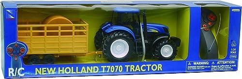nouveau HOLLAND- Tracteur T7070 Radio Comhommede avec Remorque, 88555