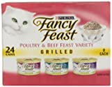 Fancy Feast Gourmet Cat Food Grilled 3-Flavor Variety, 24 ct, 3 oz