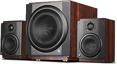 Swans Speakers - M80W - Powered 2.1 Wireless Bookshelf Speakers - HiFi Speakers - 20mm Metal Hard Dome Tweeters - 8'' Long-Throw Subwoofer - 120W