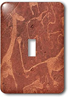3dRose lsp_187969_1 Lion Plate with Lion Man Ancient Rock Etchings, Namibia, Africa Light Switch Cover