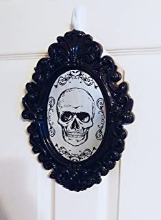 Gothic Skull Mirrored Wall Plaque - Perfect for Halloween