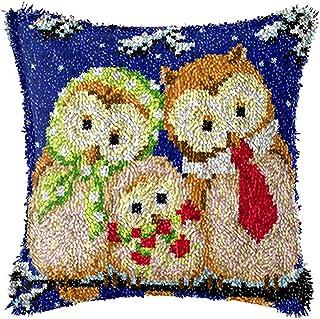 Mirui Kits de Crochet de loquet Bricolage Jetez la Couverture d'oreiller Mignon Owl Ombre Motif d'oiseau imprimé Crochet C...