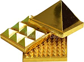 VRINDAVANBAZAAR.COM Metal Pyramid, 3 Layer, 2 inch in Size with 91 Pyramids for Vastu and Feng Shui