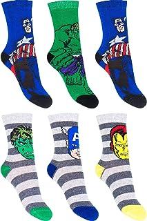 Palleon, 6 pares de calcetines para niños de Marvel