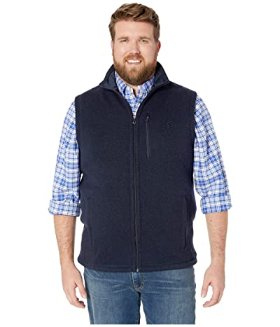 Polo Ralph Lauren Big Tall Sweater Fleece Vest (Aviator Navy) Men