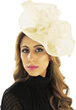 Hats By Cressida 10 Inch Desirable Sinamay Ascot Kentucky Derby Fascinator Hat with Headband