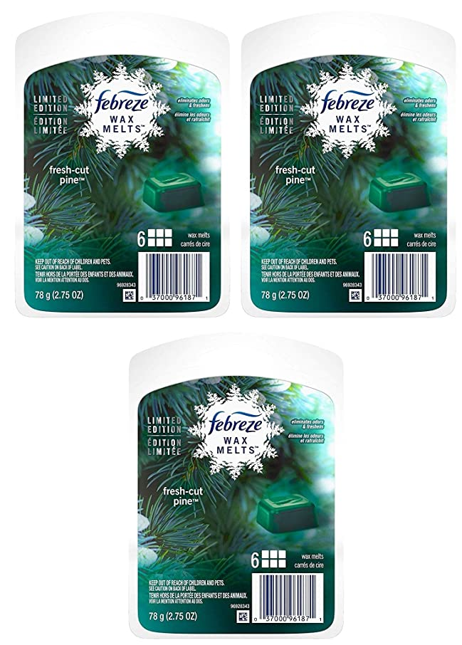 Febreze Wax Melts Air Freshener-Holiday Collection 2017-Fresh-Cut Pine-Net Wt. 2.75 OZ (78 g) Per Pack of 3 Packages, Green