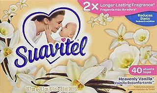 Suavitel Dryer Sheets, Heavenly Vanilla, 40 Count