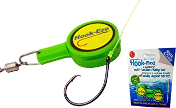 HOOK-EZE Fishing Gear Knot Tying Tool - for Tying Fishing Hooks to Fishing line and Other Fishing Gear | All in 1 Fishing Tool | Great for Kids and Adults