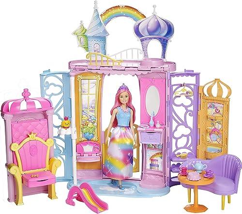 muchas sorpresas Barbie Dreamtopia, Castillo de arcoiris arcoiris arcoiris con muñeca  (Mattel FRB15)  marca de lujo