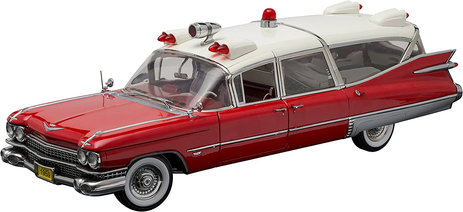 Greenlight Collectibles Precision Collection - 1959 Cadillac Ambulance (1 18 Scale), Red White