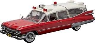 Greenlight Collectibles Precision Collection - 1959 Cadillac Ambulance (1:18 Scale), Red/White