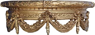 Hickory Manor House Bedcrown Swag Canopy Bed Crown/Gold Leaf