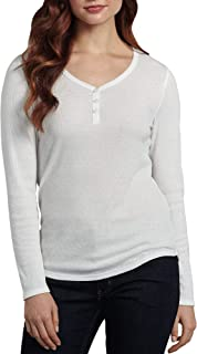 Dickies Women's Long-Sleeve 3-Button Henley Shirt