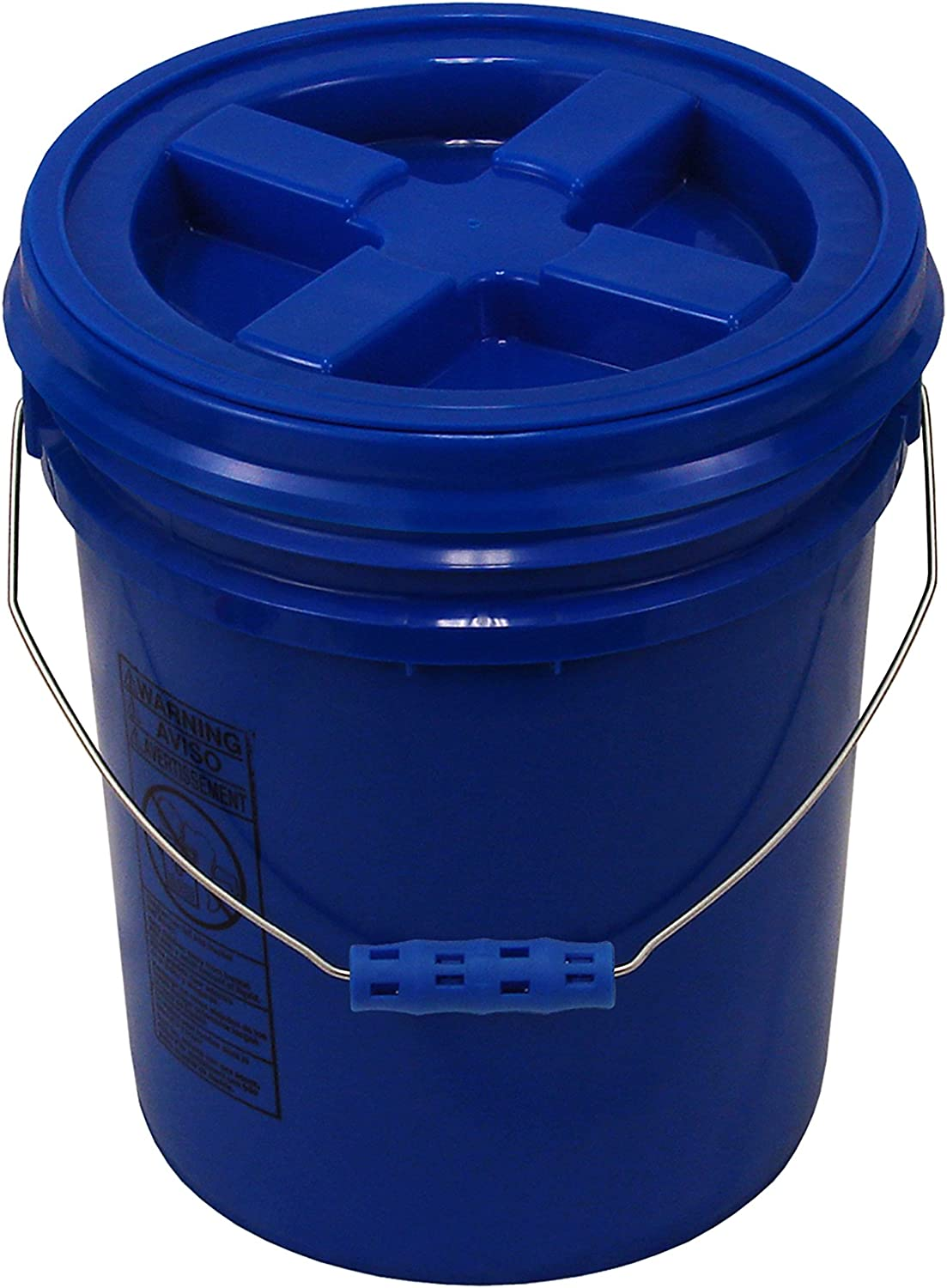 Blue 5 Gallon Bucket with Seal and Oversized Gamma Lid Reservation Phoenix Mall
