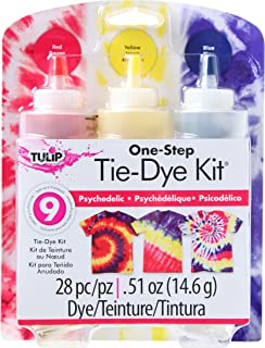 Tulip One Step 3-Color Tie Dye Kits, Psychedelic