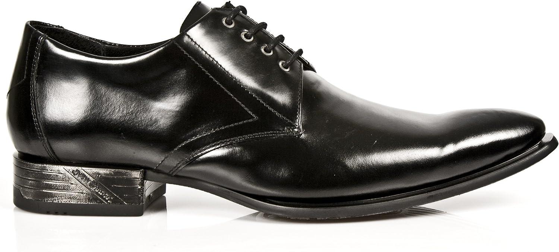 New Rock Classic 2243 2243 2243 -S1 svart Patent Leather West Steel Lace skor  förstklassiga kvalitet först