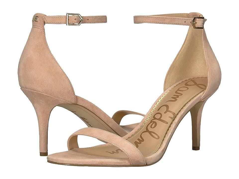 Sam Edelman Patti Strappy Sandal Heel (Seashell Pink Kid Suede Nubuck) High Heels