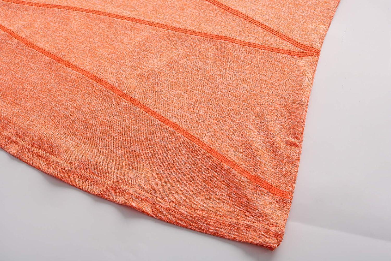 Women/'s Long Sleeve Yoga Top Performance Activewear Running Workout Moisture-Wicking Stylish T-Shirt OThread /& Co