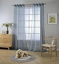Best blue grey sheer curtains Reviews