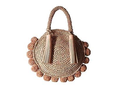Loeffler Randall Straw Circle Tote (Ballet) Tote Handbags