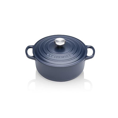 Le Creuset 21177205214430 Cocotte Ronde en Fonte Emaillée Signature 20cm, Navy Blue