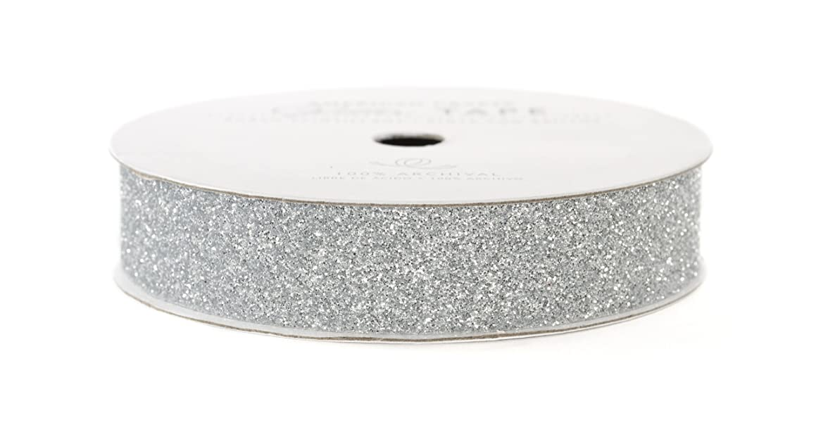 American Crafts Glitter Tape, Silver, 5/8-Inch iesoy97739