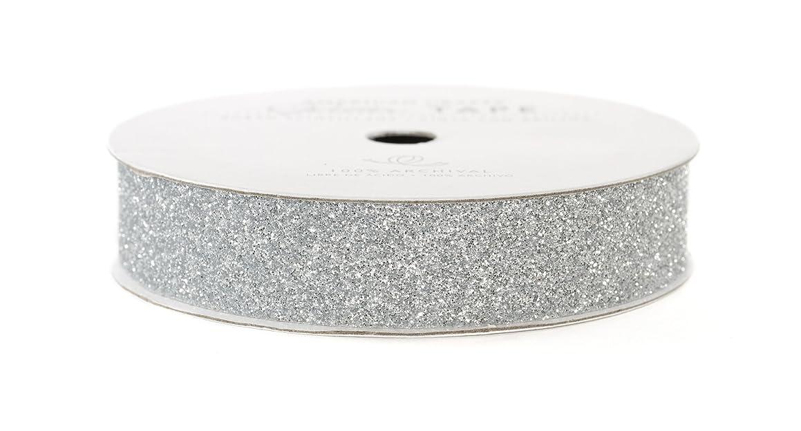 American Crafts Glitter Tape, Silver, 5/8-Inch
