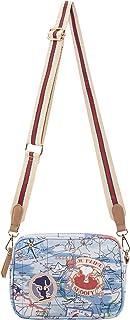 CODELLO Damen Handtasche, Crossbody, Robust und strapazierfähig   Peanuts   100% Baumwolle Canvas   22 x 16 cm