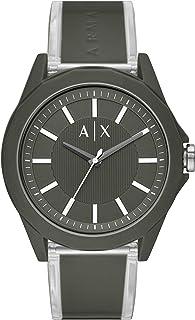 Armani Exchange Men's Three-Hand Green-Tone Nylon Watch AX2638