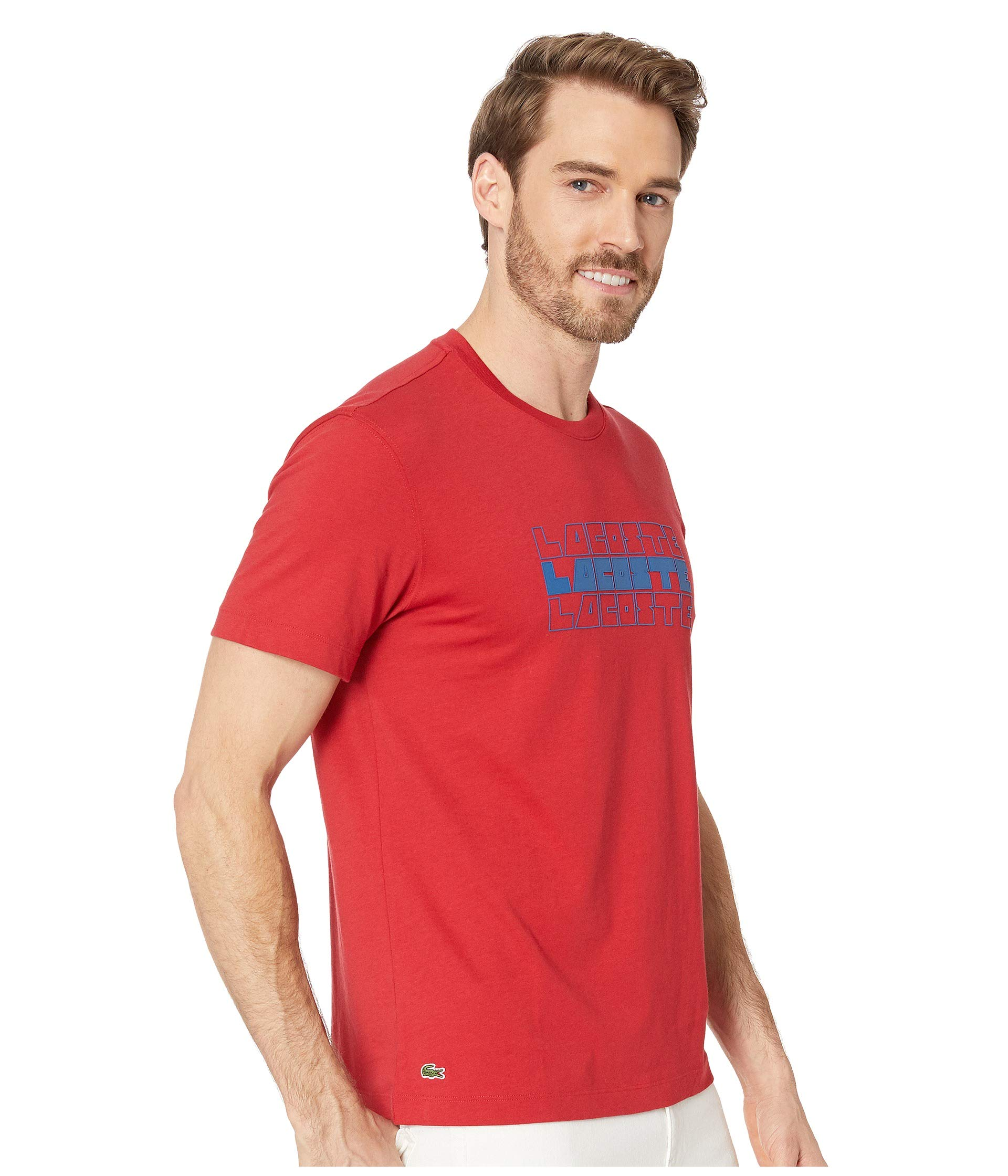 Wordplay shirt Red Fit 3 Regular Short Lacoste Lighthouse T Tier Sleeve oqAYSwBHw