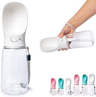 Zenify Pet Water Bottle for Dogs Drinking Waterer Feeder Bottles Portable Lead Leash Dispenser Accessory Puppy Drink Pets ...