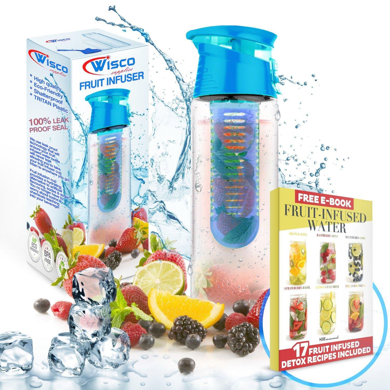 Botella de agua infusora de fruta de 800ml, a prueba de fugas ...