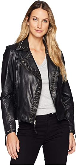 Rachelle Studded Ladies Saturday Night Ladies Leather Jacket