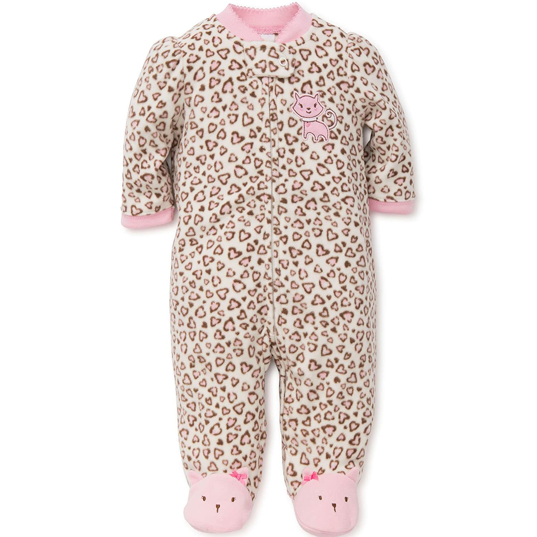 Little Me Kitty Blanket Sleeper Warm Fleece Footie Footed Pajamas Pink 24 Months