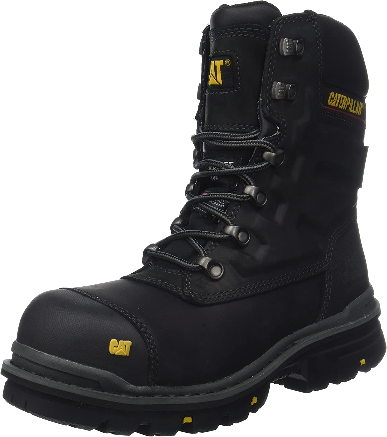 Caterpillar Mens Premier Waterproof Safety Boot half All stores are sold Black UK Size