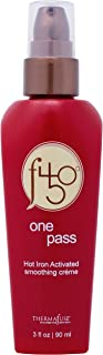 Thermafuse f450 One Pass Hot Iron Activated Smoothing Creme (3 oz) Smooths & Straightens Hair w/Thermal Heat Styling, Flat Iron and Blow Drying. Conditions, Moisturizes, Protects Damaged Hair