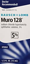 Bausch and Lomb Pharmaceuticals Muro 128 5 Percent Solution (15 Ml), 0.5 Ounce
